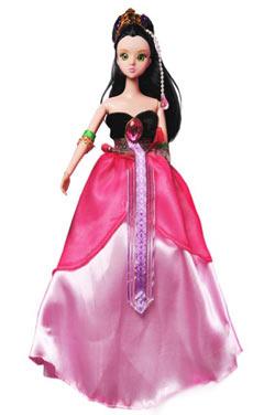 小娃娃diy配有美丽的亮片,装饰品,可以自己设计娃娃的礼服.