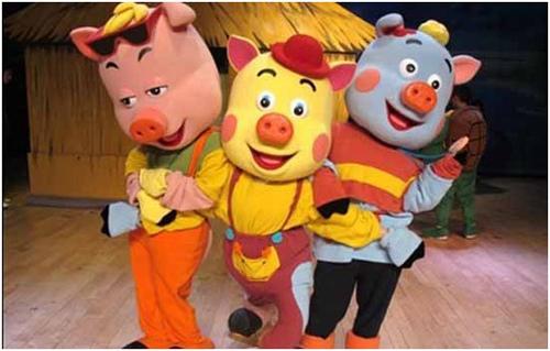 大型智斗卡通舞台剧《三只小猪》